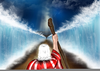 Moses Parts The Red Sea Clipart Image