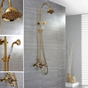 Ti Pvd Finish Wall Mount Contemporary Brass Shower Faucets Image