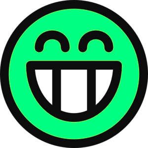 Surf Green Smiley Face Image