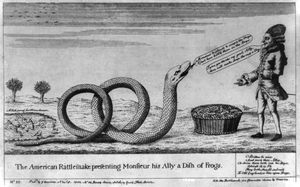 The American Rattlesnake Presenting Monsieur His Ally A Dish Of Frogs Image