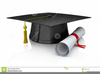Graduation Hat Clipart Black And White Image