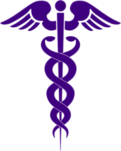 Purple Caduceus Clip Art
