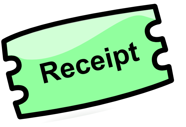 Grocery Receipt Clipart Receipt clip art - vector clip