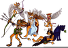 Roman Gods And Goddesses Clipart Image