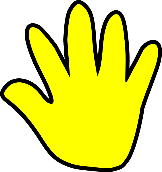 Child Handprint Yellow Clip Art at Clker.com - vector clip ...
