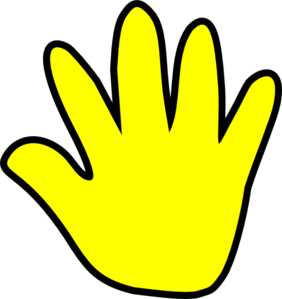 Child Handprint Yellow Clip Art