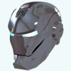 Silver Iron Man Mask Icon Image