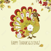 Happy Thanksgiving Turkey Clipart Image