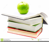 Apple And Books Clipart Image