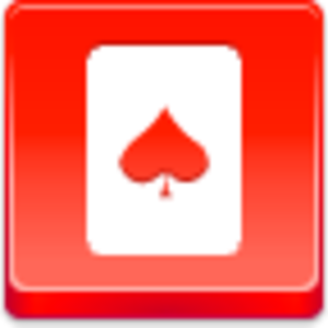 Free Red Button Icons Spades Card Image