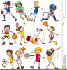 Clipart Girls Playing Sports Image