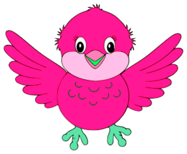 Cute Little Blue Bird Pink | Free Images at Clker.com ...