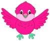 Cute Little Blue Bird Pink Image