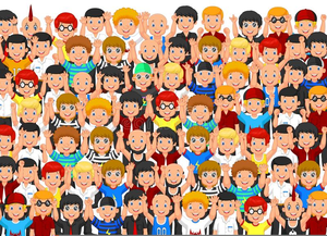 Free Clipart Crowd Cheering Image