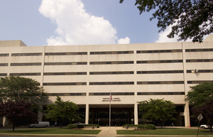 The Main Entrance To Treatment Facilities At The National Naval Medical Center In Bethesda, Md. Image