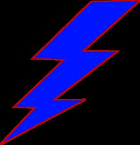 Blue Lightning Bolt Clip Art