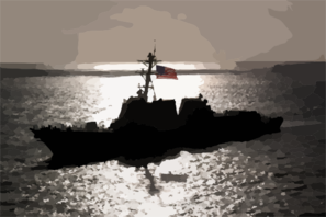 The Newly Commissioned Uss Chafee (ddg 90) Sails Into Its New Homeport Of Pearl Harbor, Hawaii. Clip Art