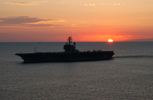 Uss Kennedy - Arrival At Naval Station Norfolk Image