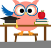 Owl Math Clipart Image