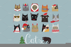 Clipart Christmas Cat Image