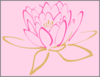 Pink Lotus On Pink Clip Art