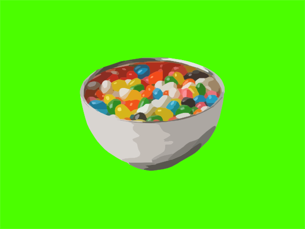 jar of jelly beans clip art. Bowl Of Jelly Beans clip art