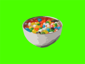 Bowl Of Jelly Beans Clip Art