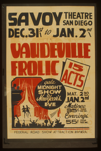 Vaudeville Frolic  15 Acts : Gala Midnight Show New Year S Eve. Image