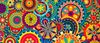 Colorful Pattern Mixed Wallpaper Image