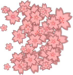 Asian Flower Design Clip Art