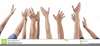 People With Hands Raised Clipart Image