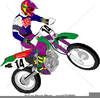 Riding Motorcycle Clipart Image
