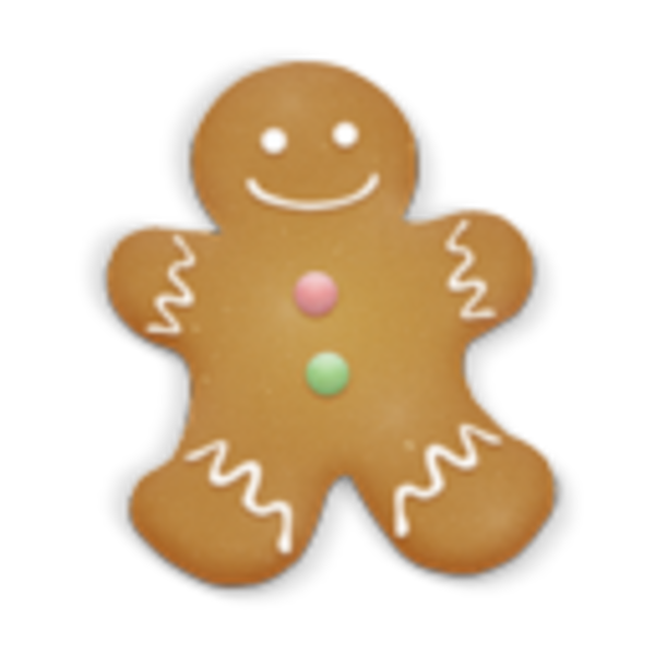 Christmas Cookie Man Icon | Free Images at Clker.com ...