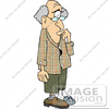 Happy Birthday Old Man Clipart Image