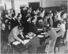 Residents Of Japanese Descent Registering For Evacuation At The Wartime Civil Control Administration Station, San Francisco, April, 1942 Image