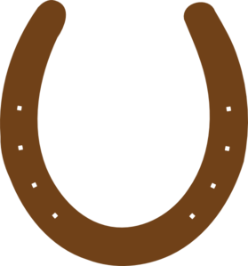 Brown Horseshoe Clip Art