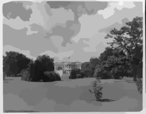 View Of The South Front Of The White House Clip Art