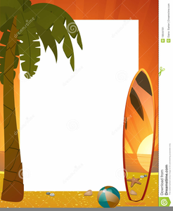 Palm Tree And Beach Clipart Image