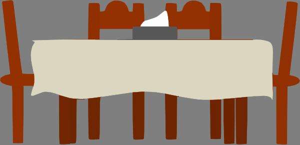 Dining table clip art at clker vector