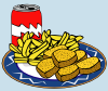 Coke Can Chicken Nuggets French Fries Clip Art
