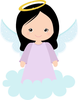 Baby Girl Baptism Clipart Image