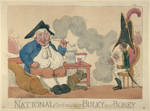 National Contrasts Or Bulky And Boney  / Etch D By Roberts. Image