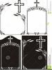 Cross Black And White Clipart Image