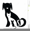 Silhouette Of Dog And Cat Clipart Image