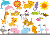 Clipart Cartoon Zoo Animals Image