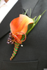 Orange Lily Boutonniere Image