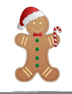 Clipart Gingerbread Man Running Image