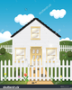 House Picket Fence Clipart Image