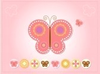 Pink Butterfly Card Image