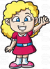 Girl With Curly Hair Clipart Image